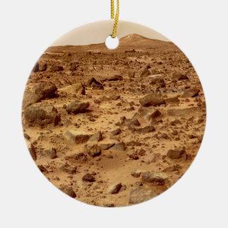 Ornamento De Cerâmica Superfície rochosa do planeta Marte