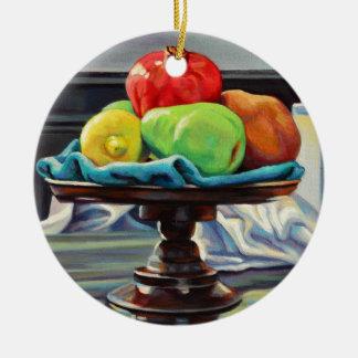 Ornamento De Cerâmica Suporte do limão da pera da romã