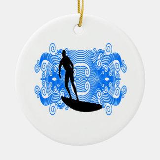 Ornamento De Cerâmica Surf épico