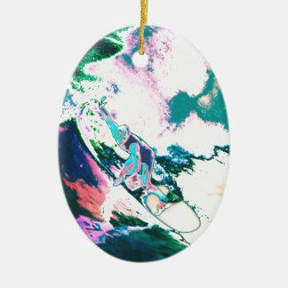 Ornamento De Cerâmica Surfer2