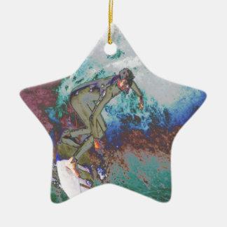 Ornamento De Cerâmica Surfer3