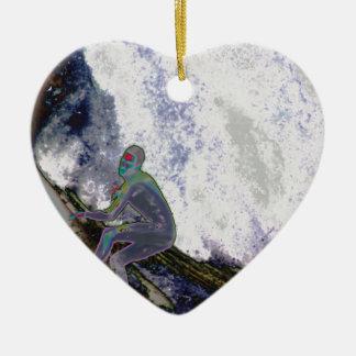 Ornamento De Cerâmica Surfer4