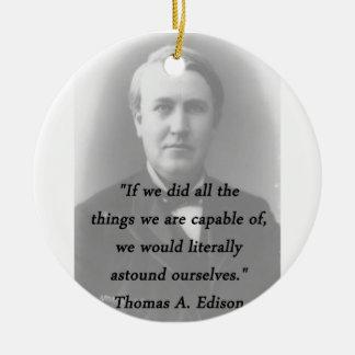 Ornamento De Cerâmica Surpreenda-se - Thomas Edison