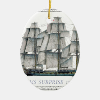 Ornamento De Cerâmica Surpresa 1796 do HMS