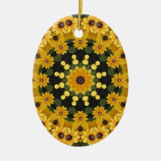 Ornamento De Cerâmica Susans de olhos pretos, mandala floral