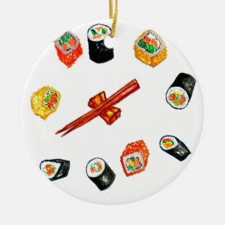 Ornamento De Cerâmica Sushi Watercolor2 ajustado