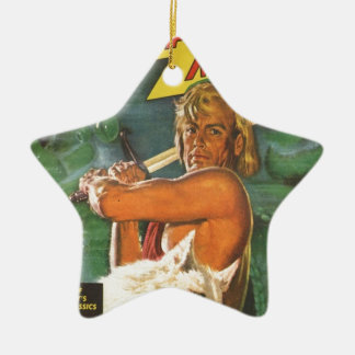 Ornamento De Cerâmica Swordsman louro