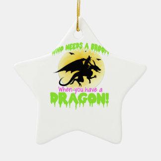 Ornamento De Cerâmica T do dragão do Dia das Bruxas