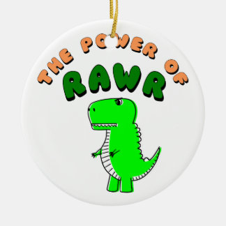 Ornamento De Cerâmica T-Rex o poder de RAWR