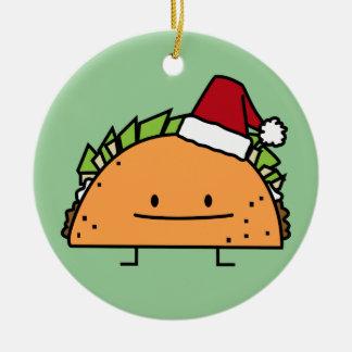 Ornamento De Cerâmica Taco que veste a salsa da carne do escudo do Natal