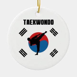 Ornamento De Cerâmica Taekwondo