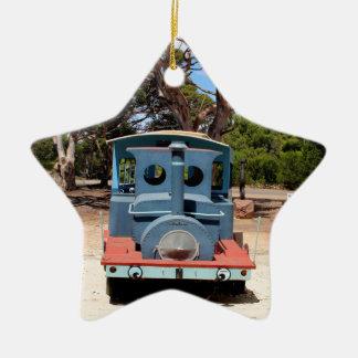 Ornamento De Cerâmica Taffy, locomotiva 2 do motor do trem