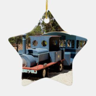 Ornamento De Cerâmica Taffy, locomotiva do motor do trem