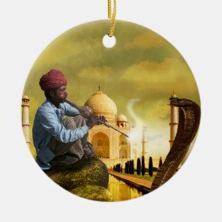 Ornamento De Cerâmica Taj Mahal