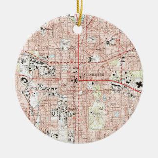 Ornamento De Cerâmica Tallahassee Florida Mapa (1999)