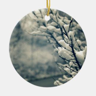 Ornamento De Cerâmica Tapete do rato nevado da árvore