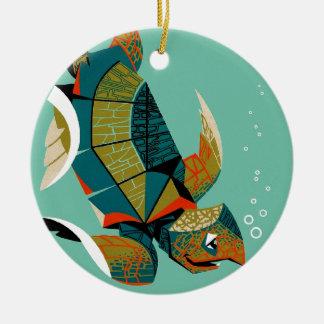 Ornamento De Cerâmica Tartaruga de mar australiana animador