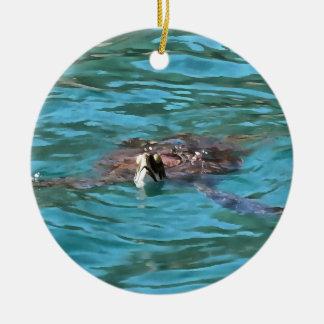 Ornamento De Cerâmica Tartaruga de mar da boba