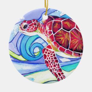 Ornamento De Cerâmica Tartaruga de Surfin