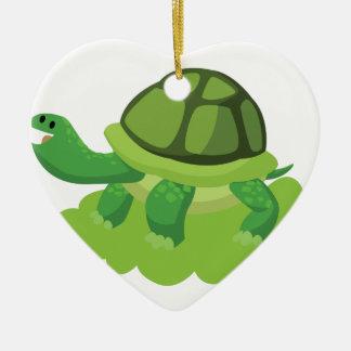 Ornamento De Cerâmica tartaruga que anda na grama