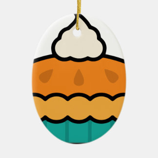 Ornamento De Cerâmica Tarte de abóbora