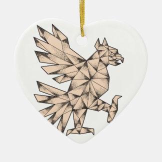 Ornamento De Cerâmica Tatuagem de Cuauhtli Glifo Eagle