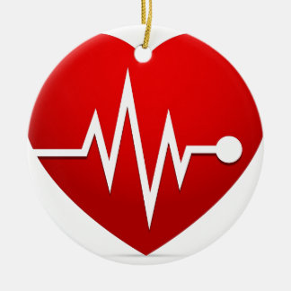 Ornamento De Cerâmica Taxa do batimento cardíaco
