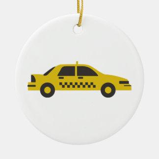 Ornamento De Cerâmica Táxi