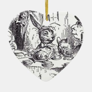 Ornamento De Cerâmica Tea party louco do Hatter