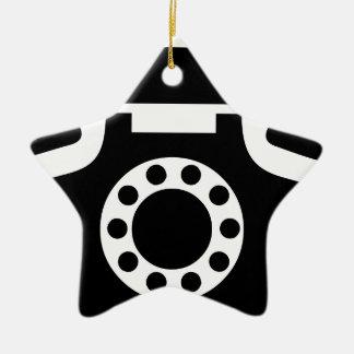 Ornamento De Cerâmica Telefone giratório
