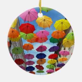 Ornamento De Cerâmica Telhado dos guarda-chuvas