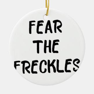 Ornamento De Cerâmica Tema os Freckles