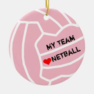 Ornamento De Cerâmica Tema personalizado da bola do Netball