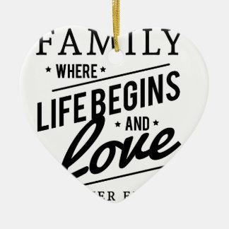 Ornamento De Cerâmica Tempo da família