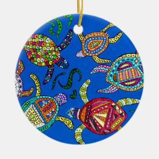 Ornamento De Cerâmica Tempo da tartaruga