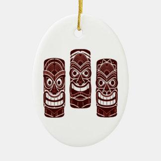 Ornamento De Cerâmica Tempo de Tiki