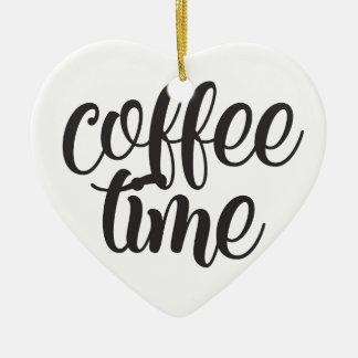 Ornamento De Cerâmica Tempo do café