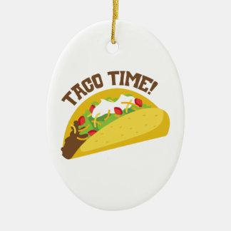 Ornamento De Cerâmica Tempo do Taco