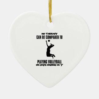 Ornamento De Cerâmica Tendendo o design do voleibol