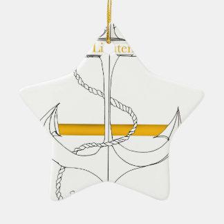 Ornamento De Cerâmica tenente secundário do ouro, fernandes tony
