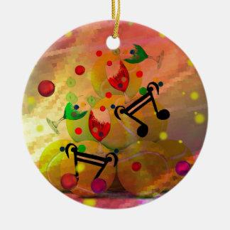 Ornamento De Cerâmica Tênis com notas da música no Natal