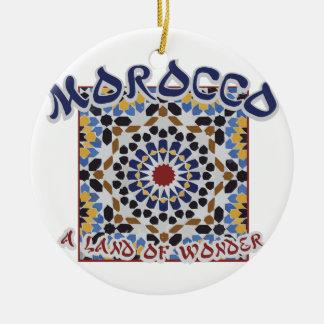 Ornamento De Cerâmica Terra de Marrocos da maravilha