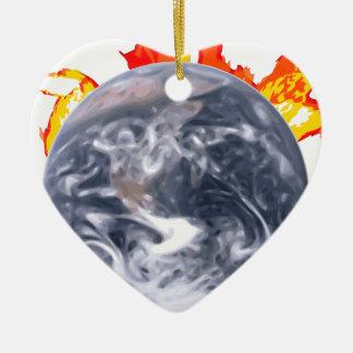 Ornamento De Cerâmica Terra do aquecimento global