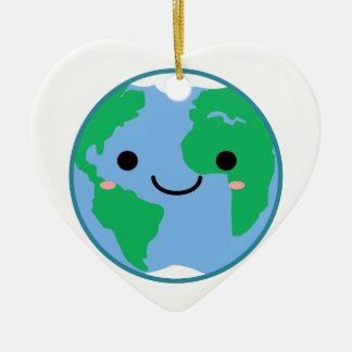 Ornamento De Cerâmica Terra do planeta de Kawaii