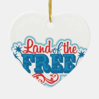 Ornamento De Cerâmica Terra dos presentes americanos Livres, liberdade