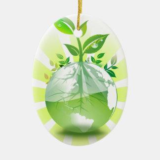 Ornamento De Cerâmica Terra verde