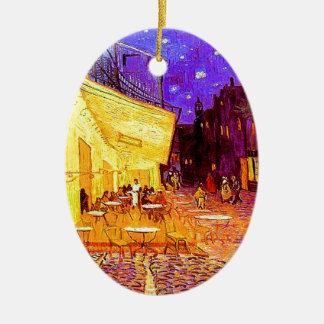 Ornamento De Cerâmica Terraço do café de Van Gogh na noite