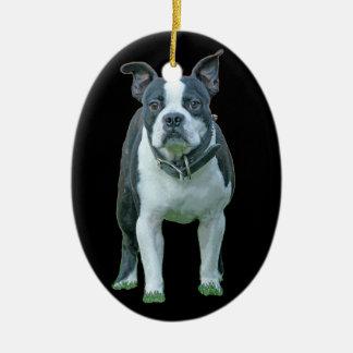Ornamento De Cerâmica Terrier 1b de Boston