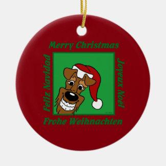 Ornamento De Cerâmica Terrier irlandesa Weihnacht