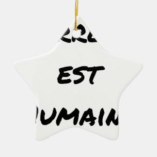 Ornamento De Cerâmica TERROR LESTE HUMANO - Jogos de palavras François